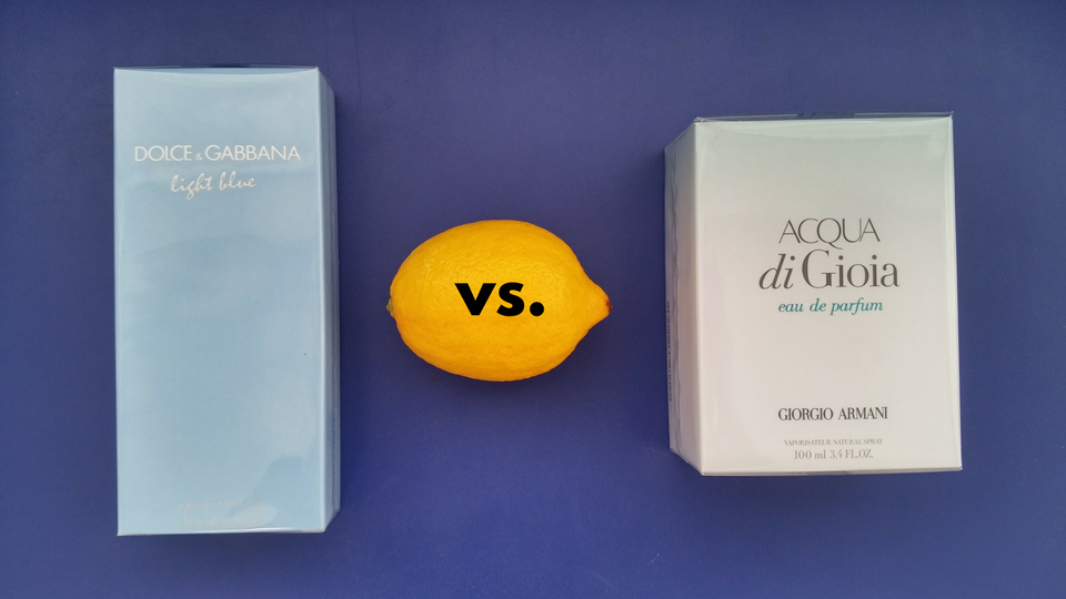 Bitwa zapachów: Light Blue vs. Acqua di Gioia